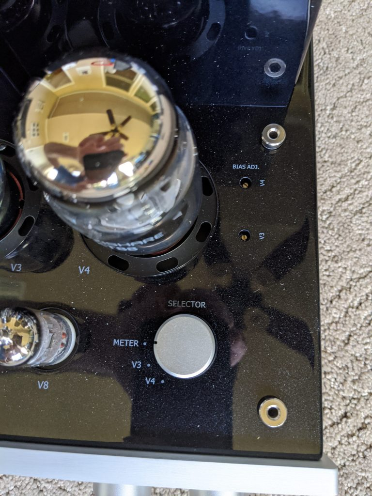 Dial used for biasing tubes